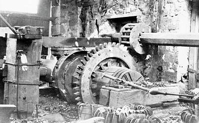 Machinery Photograph - Ironworking Forge Machinery by Hagley Museum And Archive
