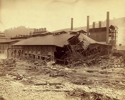 Cambria Photograph - Ironworks Damaged By Johnstown Flood by Library Of Congress/science Photo Library