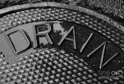 Manhole Photograph - Irony by Luke Moore