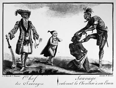 Loincloth Painting - Iroquois Chief And Warrior by Granger