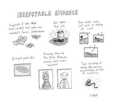Soil Drawing - Irrefutable Evidence by Roz Chast