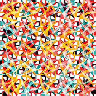 Art Wall Street Wall Art - Digital Art - Irregular Chaotic Seamless Pattern by Alex Landa