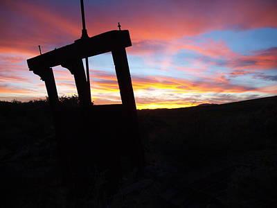 Photograph - Irrigation Gate Sunset by Jenessa Rahn