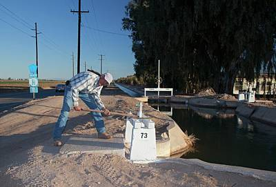 Irrigation Photograph - Irrigation Sluice Being Opened by Jim West