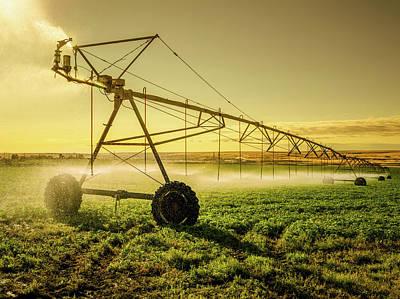 Irrigator Machine At Palouse Art Print by Chinaface