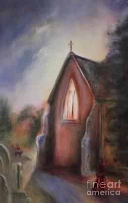 Painting - Irton Dusk by Kathy Lynn Goldbach
