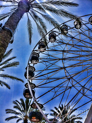 Photograph - Irvine Spectrum Giant Ferris Wheel By Diana Sainz by Diana Raquel Sainz