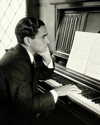 Photograph - Irving Berlin At A Piano by Florence Vandamm