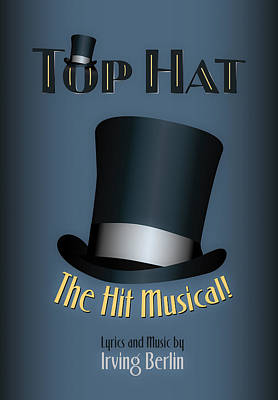 Irving Berlin Top Hat Musical Poster Art Print by Hakon Soreide