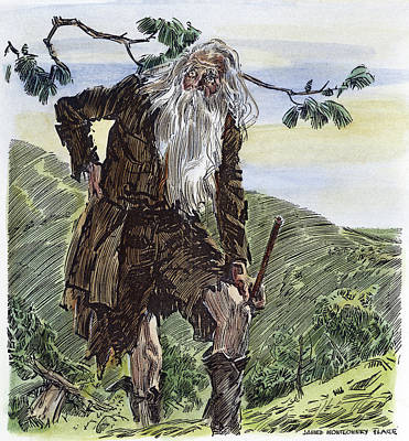 Flagg Drawing - Irving Rip Van Winkle, 1929 by Granger