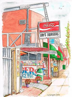 Coca Cola Sign Painting - Irv's Burgers In West Hollywood, California by Carlos G Groppa