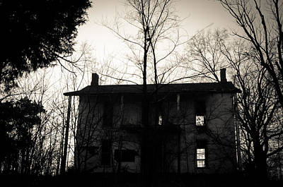 Haunted Mansion Photograph - Is Anybody Home by Off The Beaten Path Photography - Andrew Alexander
