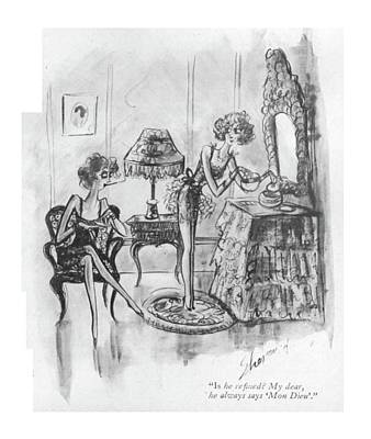Conversing Drawing - Is He Re?ned? My Dear by Barbara Shermund