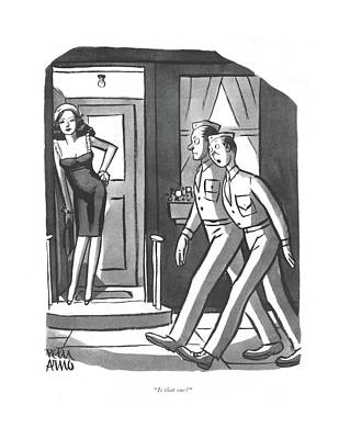 Prostitution Drawing - Is That One? by Peter Arno