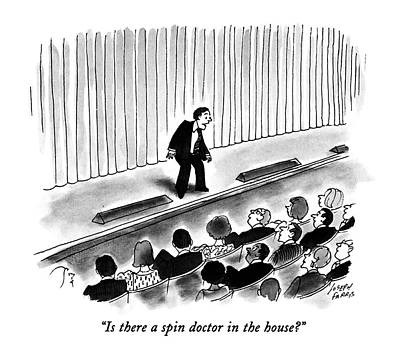 Audience Drawing - Is There A Spin Doctor In The House? by Joseph Farris