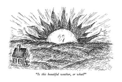 November 26th Drawing - Is This Beautiful Weather by Edward Koren
