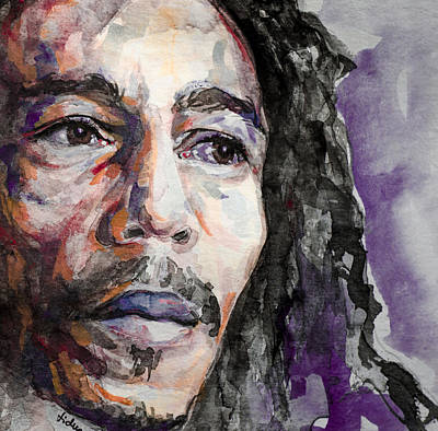 Bob Marley Artwork Painting - Is This Love by Laur Iduc