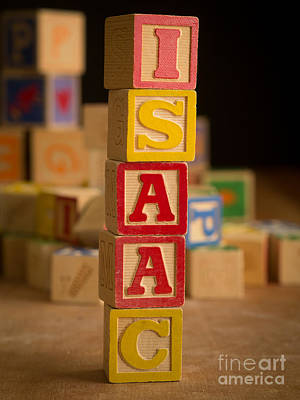 Photograph - Isaac - Alphabet Blocks by Edward Fielding