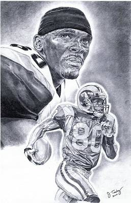 Isaac Bruce Art Print by Jonathan Tooley