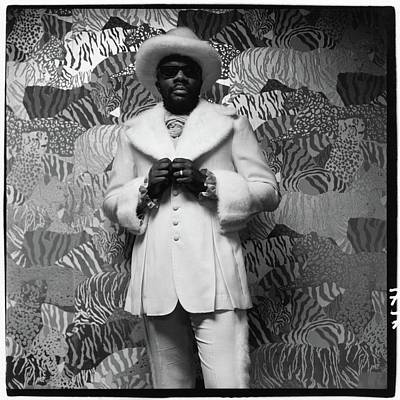 Photograph - Isaac Hayes Wearing A Suit by Peter Hujar
