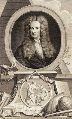 Kneller Photograph - Isaac Newton by Gregory Tobias/chemical Heritage Foundation