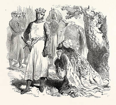 Cyprus Drawing - Isaac Of Cyprus Begging For The Release Of His Daughter by Cyprian School