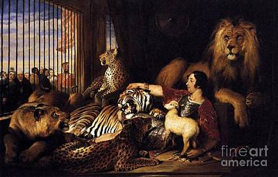 Cage Painting - Isaac Van Amburgh And Animals by Pg Reproductions