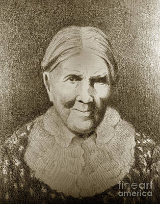 Photograph - Isabel Meadows July 7 1846 Was The Last Fluent Speaker Of The Rumsen Ohlone Language by California Views Mr Pat Hathaway Archives