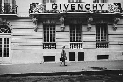 Urban Scene Photograph - Isabel O'donnell In Front Of Givenchy by Knight Russell