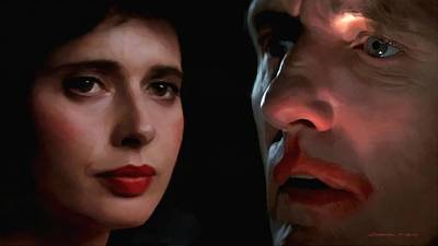 Digital Art - Isabella Rossellini And Dennis Hopper by Gabriel T Toro
