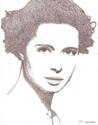 Love Poetry Drawing - Isabella Rossellini Drawing by Dylan Williams