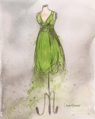 Painting - Isabelle Vintage Dress by Lauren Maurer