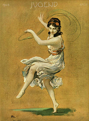 Isadora Duncan Drawing - Isadora Duncan (1877  1927), American by Mary Evans Picture Library