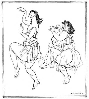 Isadora Duncan Drawing - Isadora Duncan  Inspired by Mary Evans Picture Library