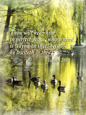 Photograph - Isaiah 26 3 Thou Wilt Keep Him In Perfect Peace by Susan Savad