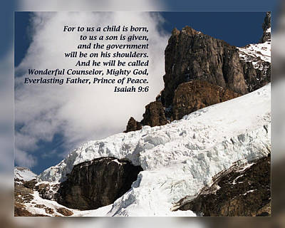 Prince Of Peace Photograph - Isaiah 9 6 by Dawn Currie