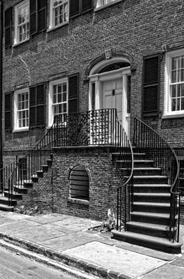 Photograph - Isaiah Davenport House In Black And White by Greg and Chrystal Mimbs