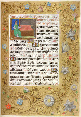 Isaiah Photograph - Isaiah Enthroned by British Library
