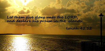 Photograph - Isaiah Glory Unto The Lord  by Sheri McLeroy