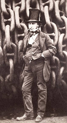 Isambard Kingdom Brunel  Art Print by Robert Howlett