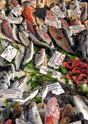 Ischia Fish Market Art Print by Jean Hall