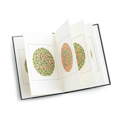 Visual Perceptions Photograph - Isihara Colour Vision Test Charts by Science Photo Library