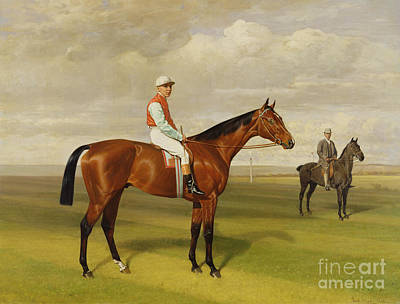 Horse Race Painting - Isinglass Winner Of The 1893 Derby by Emil Adam