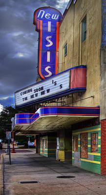 Isis Movie Theater Art Print by David and Carol Kelly