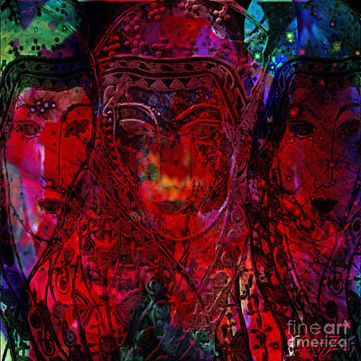 Pleiades Digital Art - Isis by Mynzah Osiris