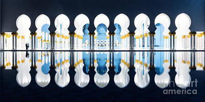 Emirates Photograph - Islamic Architecture Of Abu Dhabi Grand Mosque - Uae by Matteo Colombo