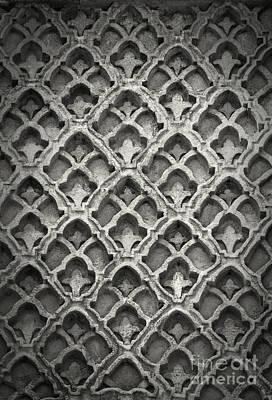 Ancient Reliefs Photograph - Islamic Art Stone Texture by Antony McAulay