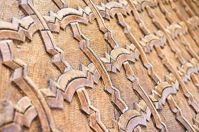 Moroccan Photograph - Islamic Carving by Tom Gowanlock