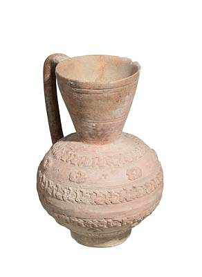 Ewer Photograph - Islamic Terra-cotta Ewer by Photostock-israel