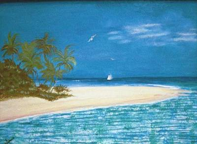 Island Beach Art Print